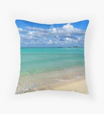 Breezy Day at Gillam Bay  Throw Pillow