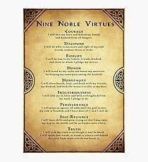 Nine Noble Virtues Photographic Print