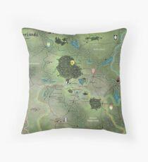 The Midderlands Hex Map Throw Pillow