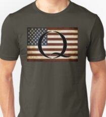QARMY #qanon WHERE WE GO ONE - American Flag Q Unisex T-Shirt