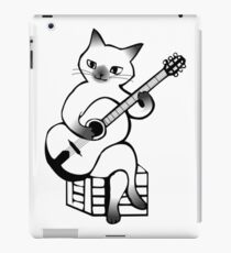 Cat musician iPad Case/Skin