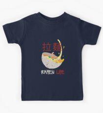 Camiseta para niños Linda vida de Ramen para la comida japonesa y los fanáticos del animé
