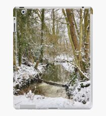 Winter snow stream scene  iPad Case/Skin
