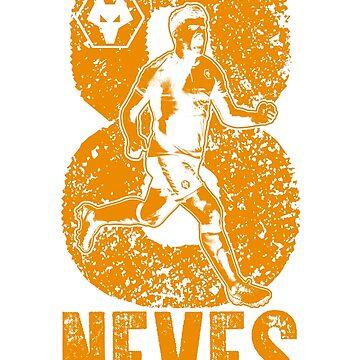 Rúben Neves - Wolverhampton Wanderers FC (Orange) by TurboCake