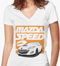 Mazdaspeed 3  Women's Fitted V-Neck T-Shirt