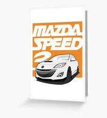 Mazdaspeed 3  Greeting Card