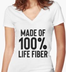 Life Fiber - Great For Sarcastic Meme Women's Fitted V-Neck T-Shirt