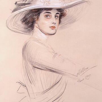 Portrait Of A Woman by Paul Cesar Helleu 1909 by netdweller