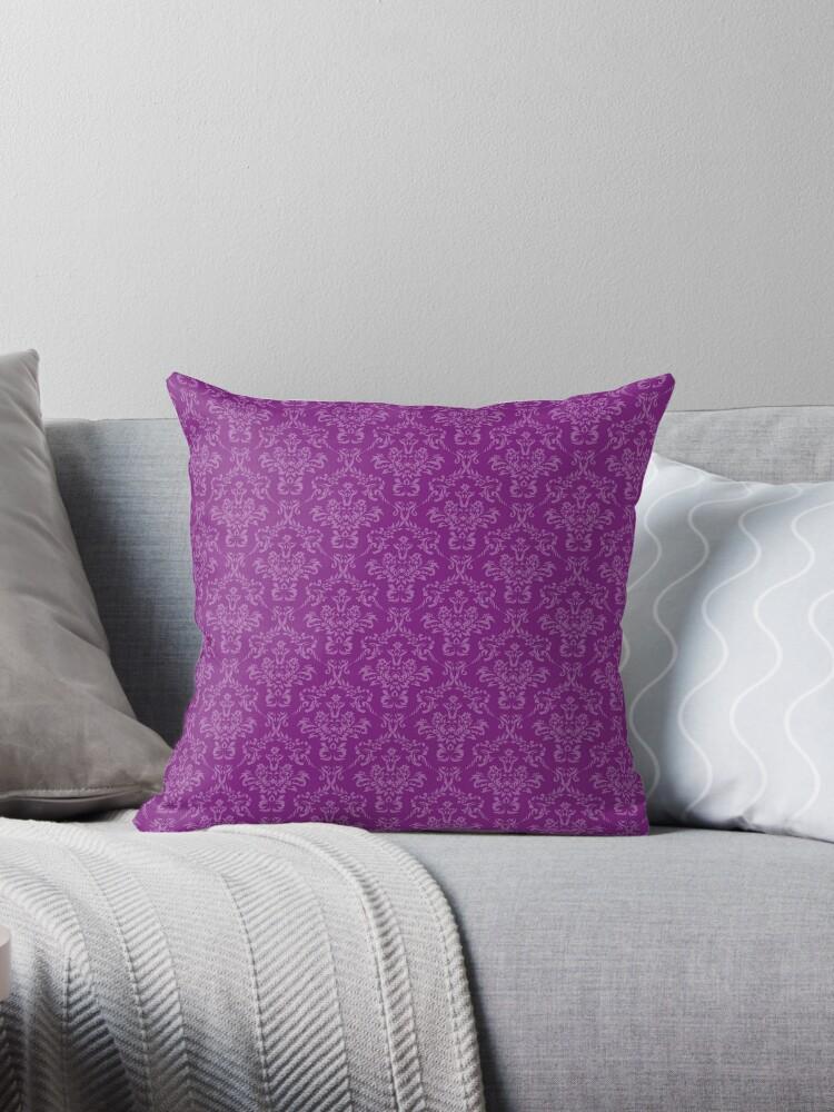 Vintage damask pattern purple by RaionKeiji