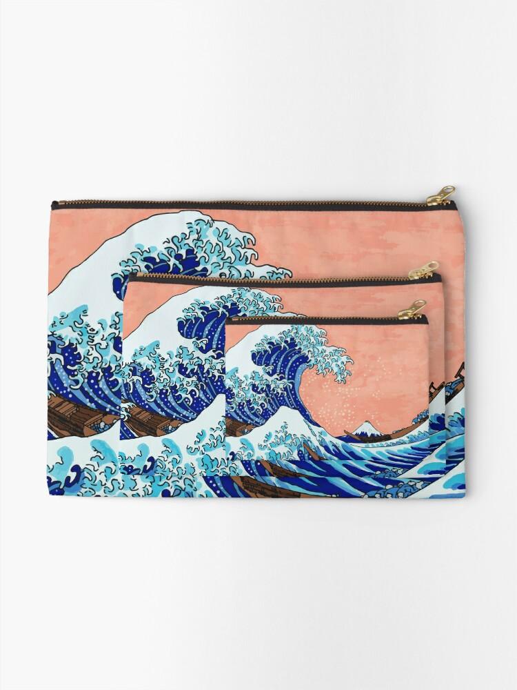 Alternative Ansicht von Die große Welle von Kanagawa Täschchen