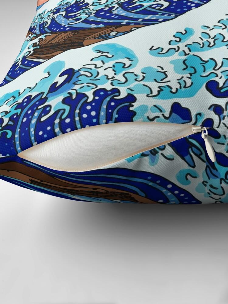 Alternative Ansicht von Die große Welle von Kanagawa Dekokissen