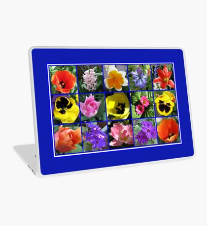 Blumen der Frühlings-Collage Laptop Skin