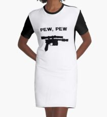 Laser Sounds Graphic T-Shirt Dress