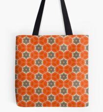 Orange Poppy Bee  Tote Bag