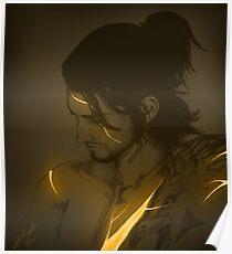 Kintsugi Gladiolus Poster