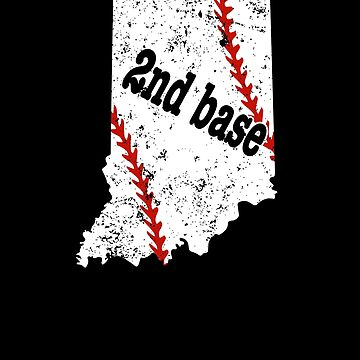 Second Base Baseball Indiana Shirt Softball Second Base by shoppzee