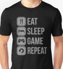 Camiseta unisex Eat Sleep Game Repeat