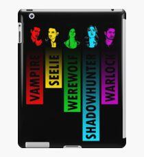 The Shadow World in Rainbow - Black iPad Case/Skin