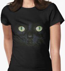 Cat Face T-Shirt Women's Fitted T-Shirt