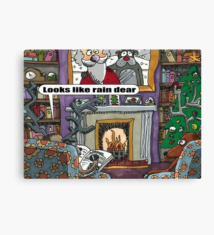 Looks Like Rain Dear Canvas Print