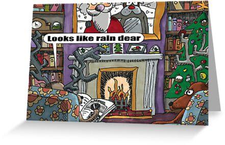 Looks Like Rain Dear by ToneCartoons