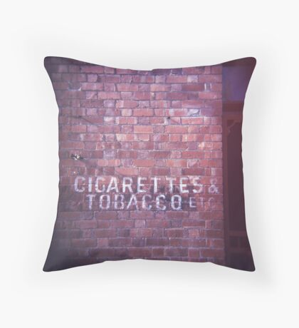 cigarettes & tobacco etc... Throw Pillow