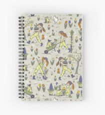 dirty gardening pattern Spiral Notebook