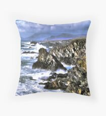 Achill Cliffs Throw Pillow