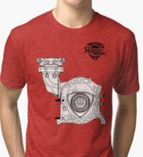 Mazda Rotary Engine Blueprint for Power 13B Tri-blend T-Shirt