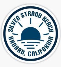 Silver strand beach  Sticker