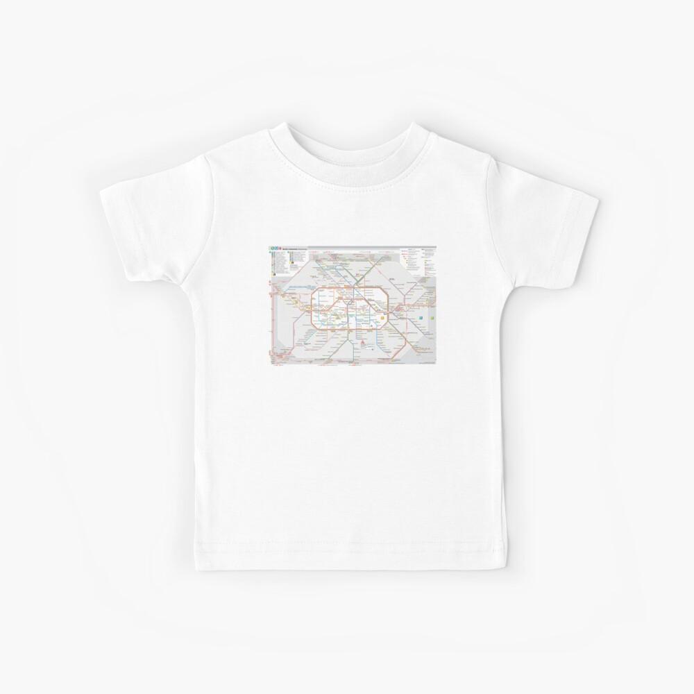 Berliner S-Bahn Karte - Deutschland Kinder T-Shirt