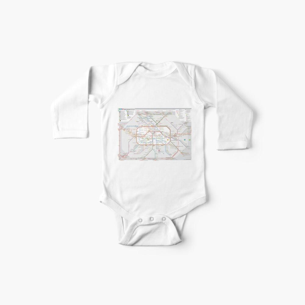 Berliner S-Bahn Karte - Deutschland Baby Bodys