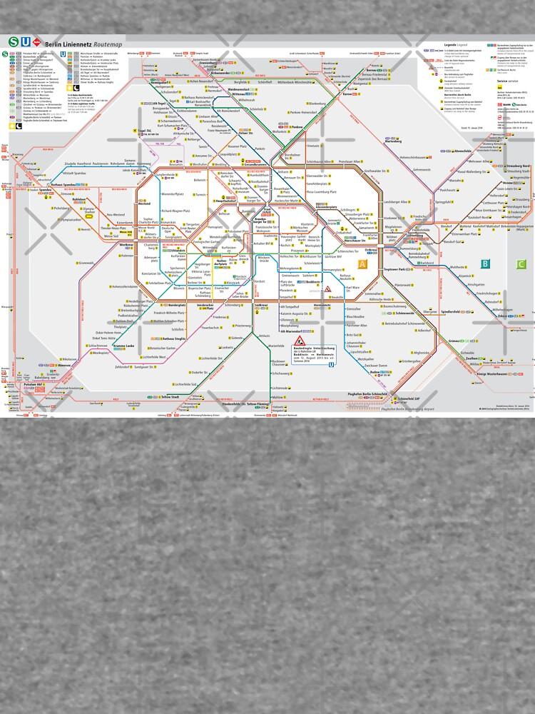 Berliner S-Bahn Karte - Deutschland von superfunky
