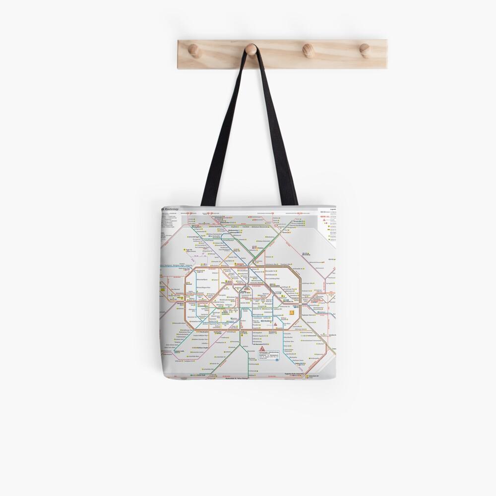 Berliner S-Bahn Karte - Deutschland Tote Bag