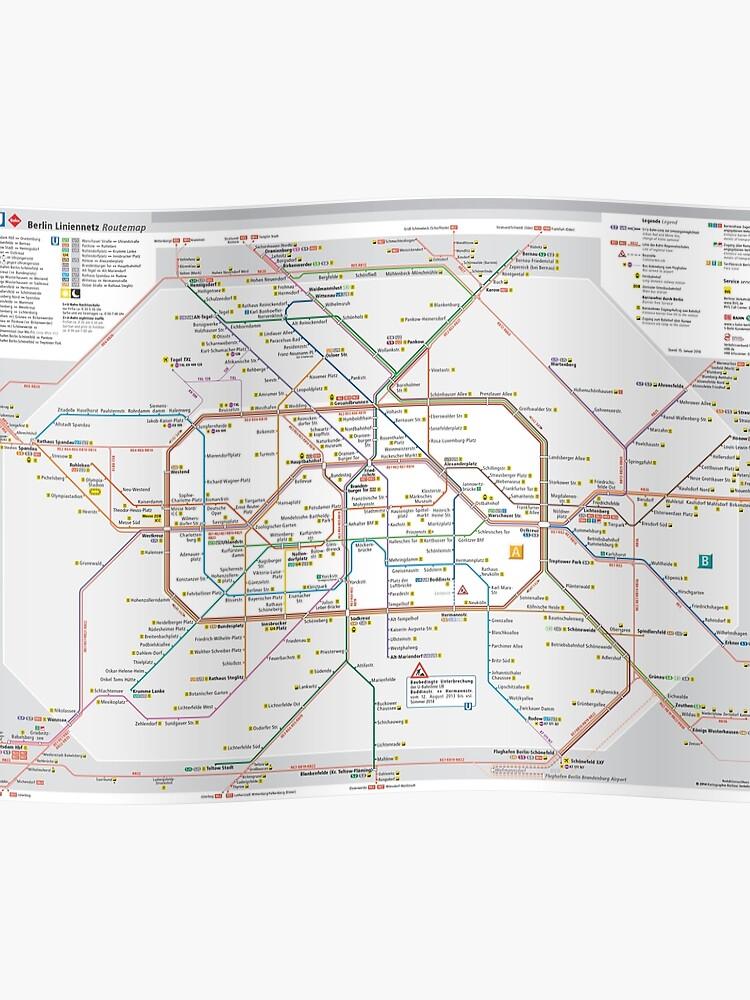 Berlin S Bahn Map Germany Poster By Superfunky Redbubble - Berlin-us-bahn-map
