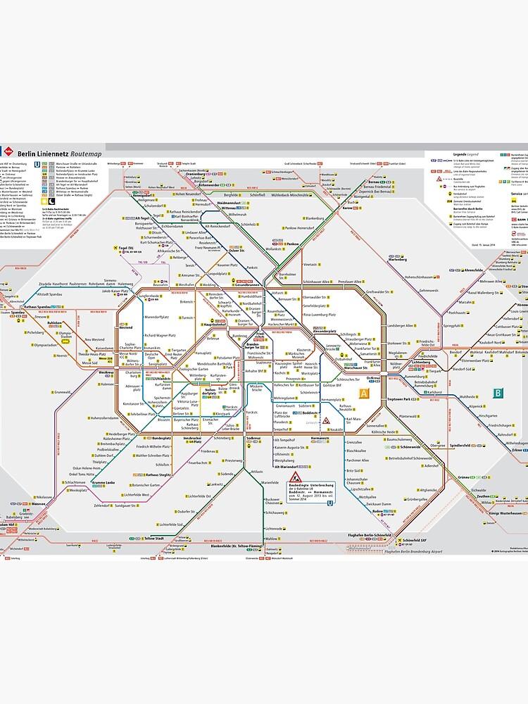 Berlin S Bahn Map Germany Photographic Print By Superfunky - Berlin-us-bahn-map
