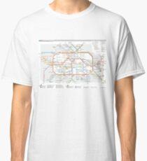 Camiseta clásica Mapa de U-Bahn de Berlín - Alemania