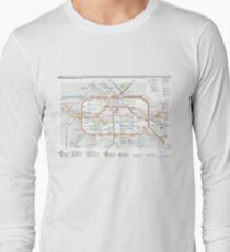 Berlin U-Bahn Map - Germany Long Sleeve T-Shirt