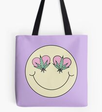 Weed Smiley Tote Bag