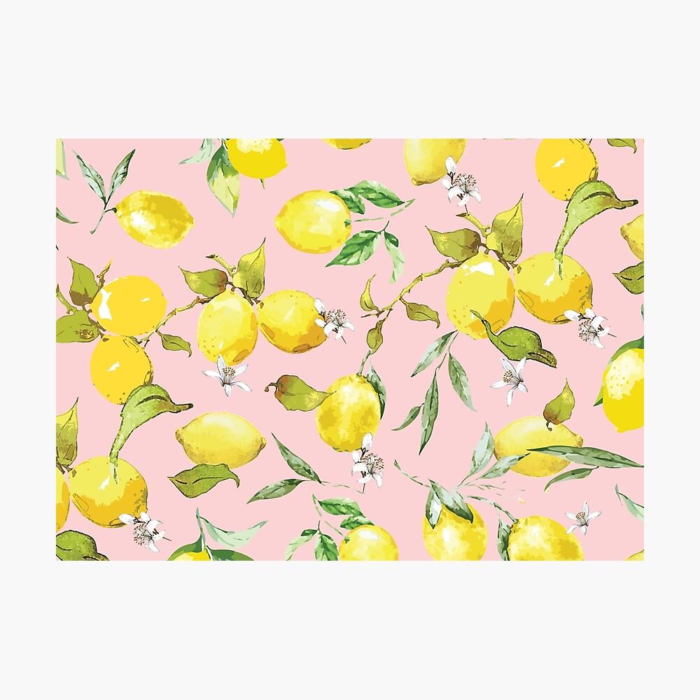Watercolor Lemon Photographic Print - cool lemon wall decorations