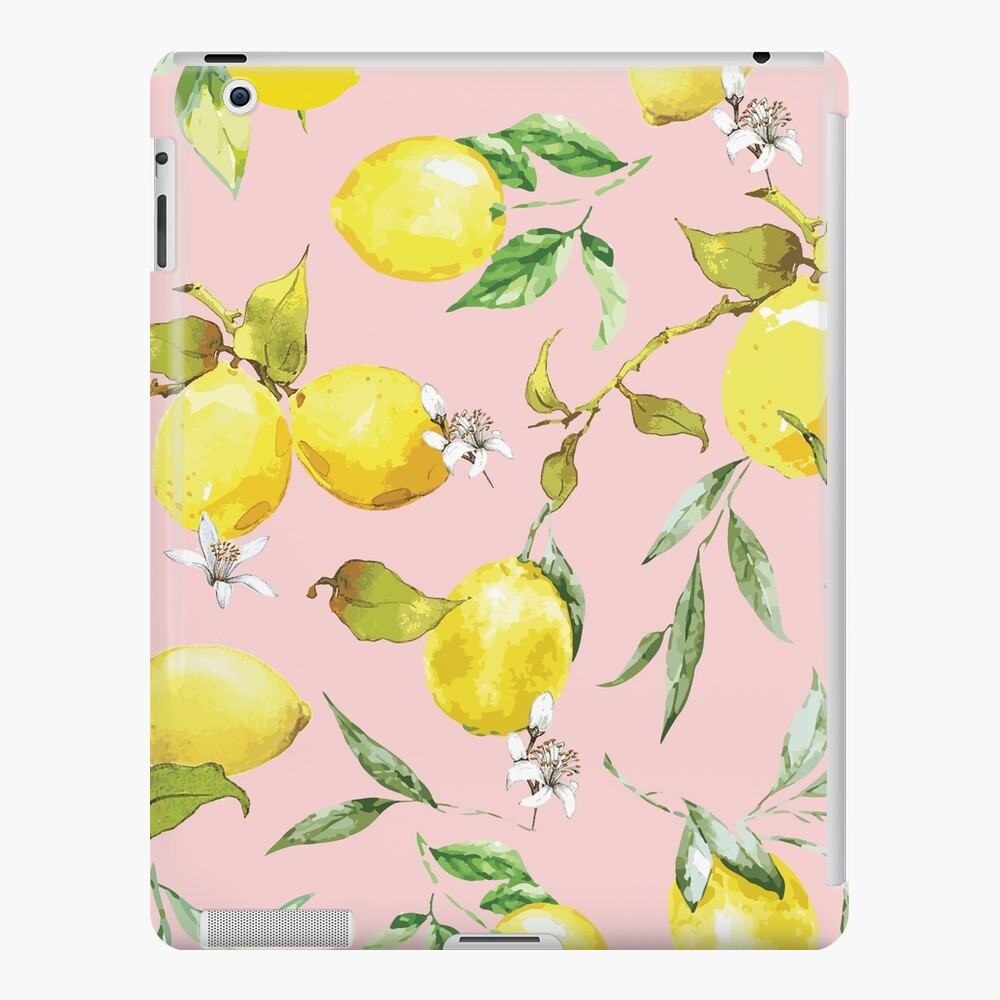 Watercolor Lemon Pattern X iPad Case & Skin