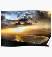 Achill Sunset Poster