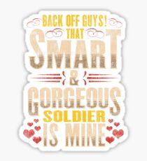 Soldier Romantic Gift Boyfriend Girlfriend Sticker