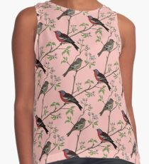 Peaceful harmony in the cherry tree Contrast Tank