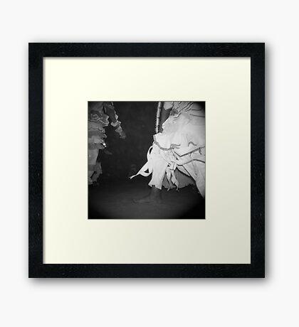 Waist down Framed Print