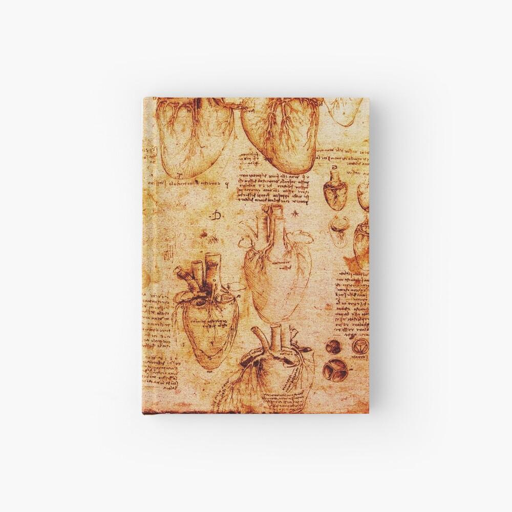Herz und seine Blutgefäße, Leonardo Da Vinci Anatomy Drawings, Brown Notizbuch