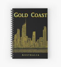 Gold Coast, Queensland, Australia – Skyline - Seaside Resort Spiral Notebook