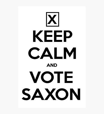 Vote Saxon - White Photographic Print