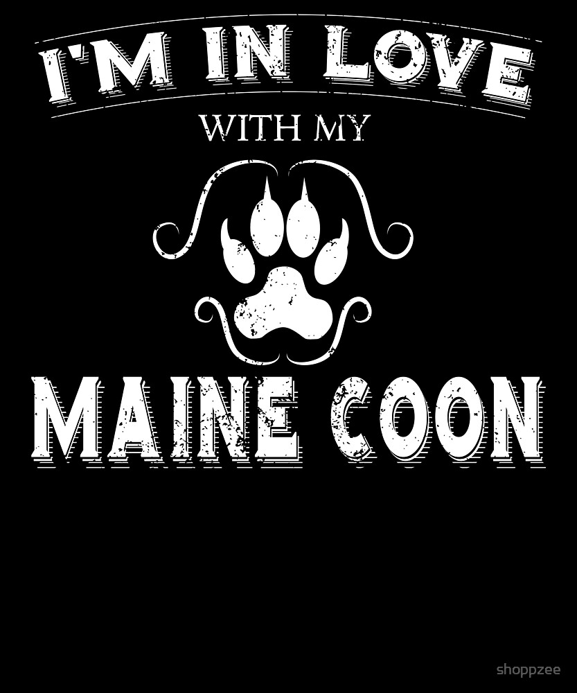Anti Valentines Day Maine Coon Cool Cat Owner Gift by shoppzee