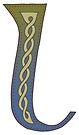 Celtic Knotwork Alphabet - Letter L by Carrie Dennison